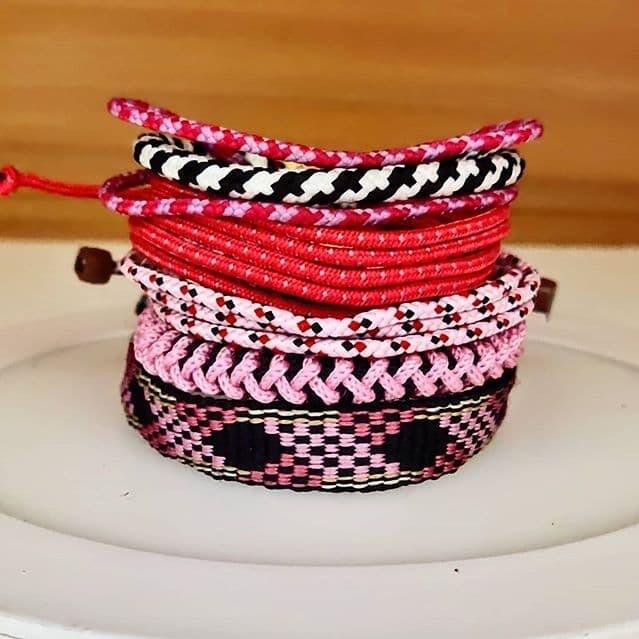 Foto Produk [COD] Gelang Merah Pink set unisex Allsize gelang pria gelang wanita 3 dari DHV store