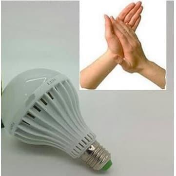 Foto Produk Lampu Bohlam LED Tepuk 15 Watt Sensor Suara 15W Putih 15 W dari GRAHA ELECTRIC SHOP