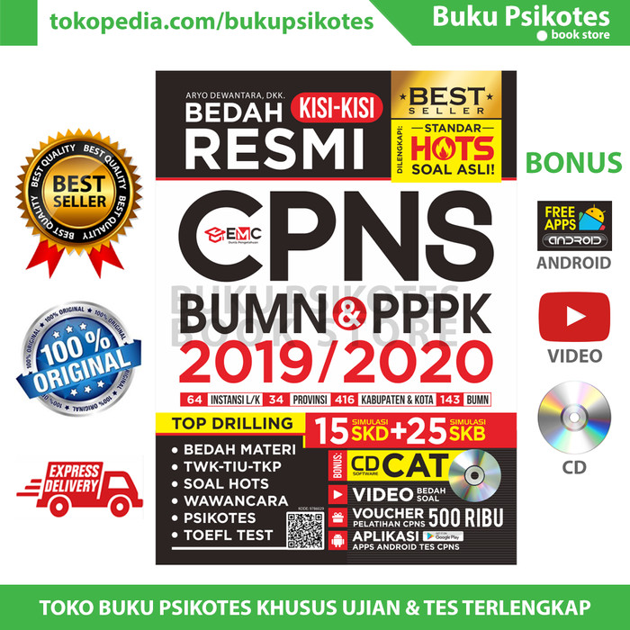 Jual Bedah Kisi Kisi Resmi Cpns Bumn Pppk 2019 2020 Bonus Cd Kota Yogyakarta Buku Psikotes Tokopedia