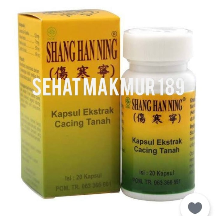 Foto Produk shang han ning kapsul( kapsul cacing tipes) dari Sehat Makmur 189