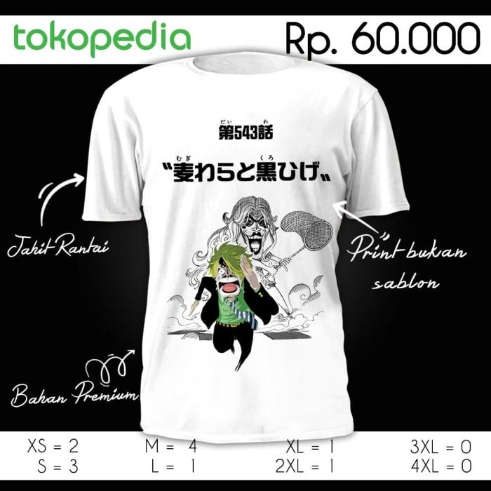 Jual Kaos Sanji One Piece Time Skip M Kota Bandung Ultishirt Tokopedia