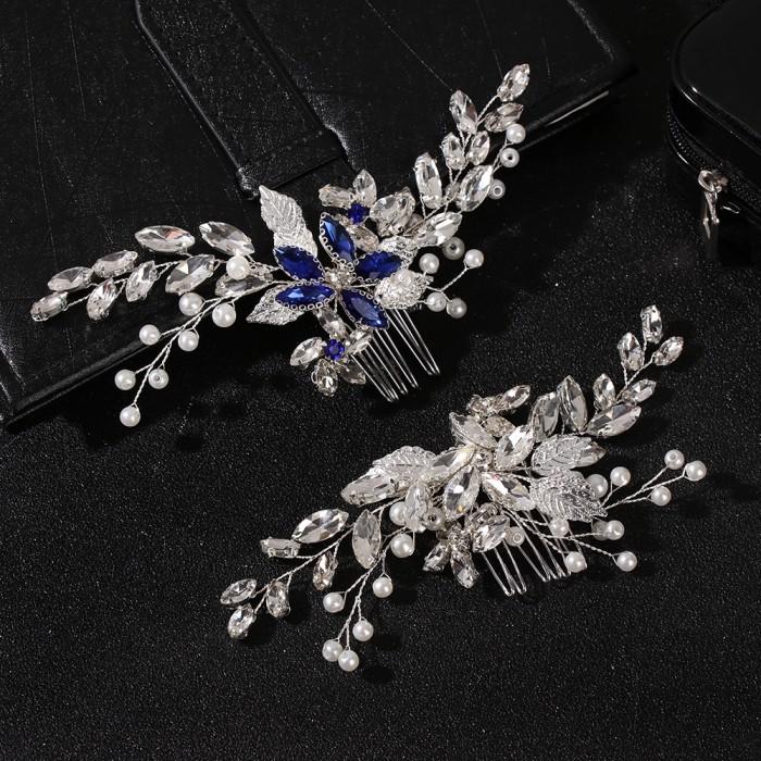 Jual Wattle Jewelry Wedding Hair Accessories Pearl Rhinestone Hair Combs Kota Bandung Zeenastore Tokopedia