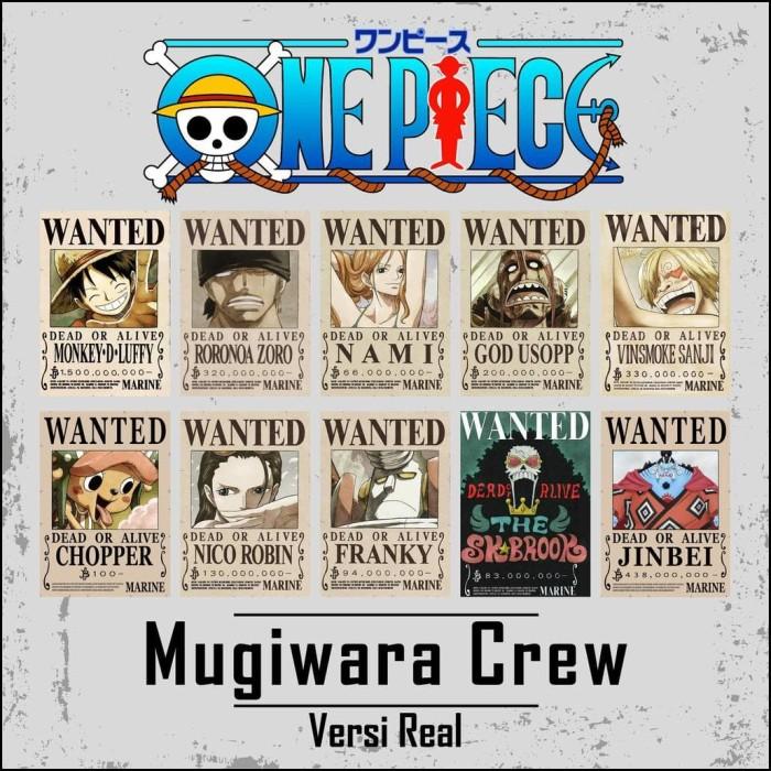 Jual Bergarans Poster Bounty One Piece Mugiwara Crew Limited Edition Jakarta Selatan Bambang Setiaji Tokopedia
