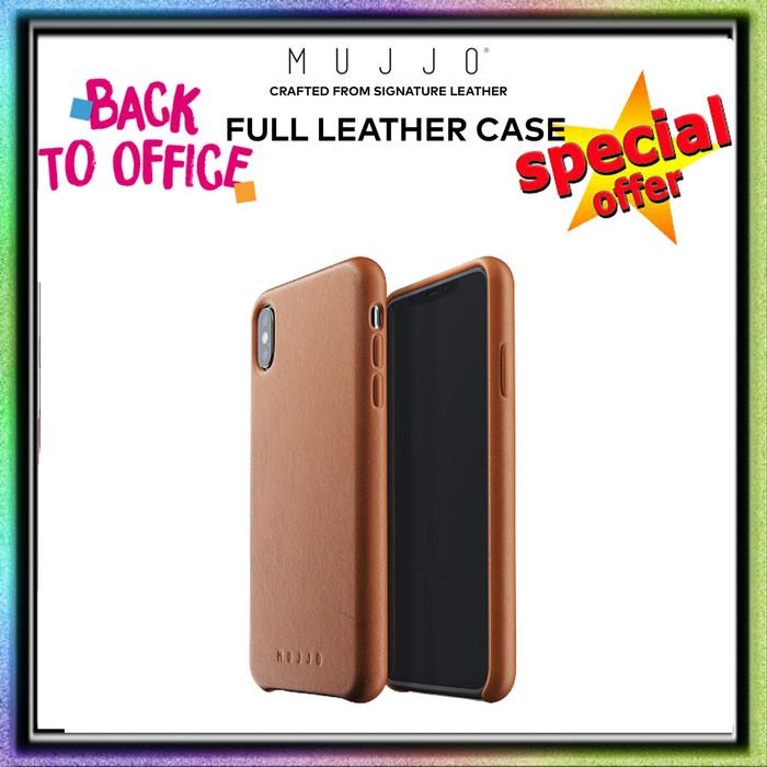 Foto Produk iPhone XS MAX Mujjo Full Leather Case Premium Genuine Leather - Tan Brown dari Spigen Indonesia