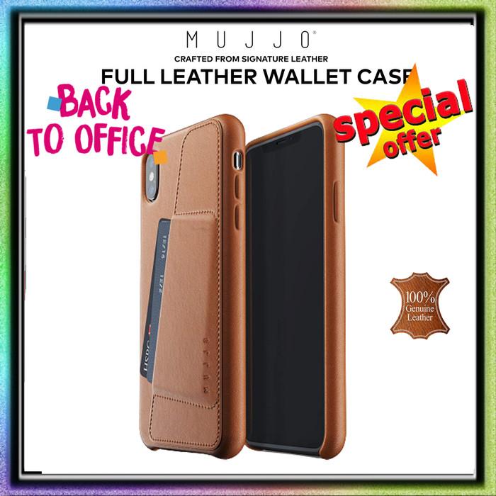 Foto Produk iPhone XS MAX Mujjo Full Leather WALLET Case Premium Genuine Leather - Tan Brown dari Spigen Indonesia