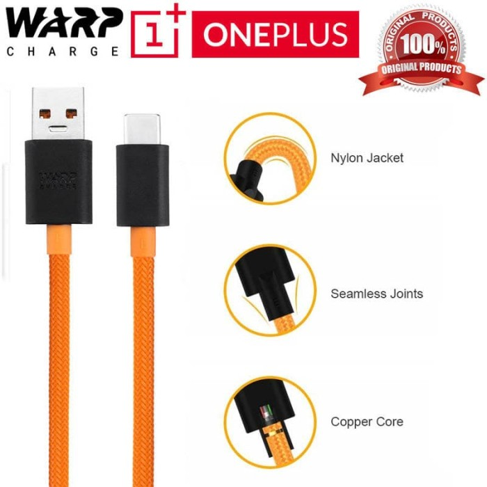 Foto Produk Official OnePlus Warp Charge Type-C Cable Max.6A 100cm - Original Fast dari Logay Accessories