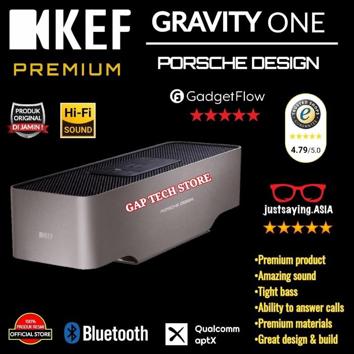 Foto Produk KEF Porsche Design GRAVITY ONE Premium Bluetooth Speaker Original dari GAP TECH STORE