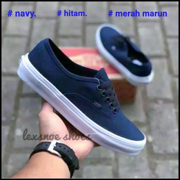 Foto Produk sepatu vans authentic premium china - Navy, 38 dari lexsnoe shoes