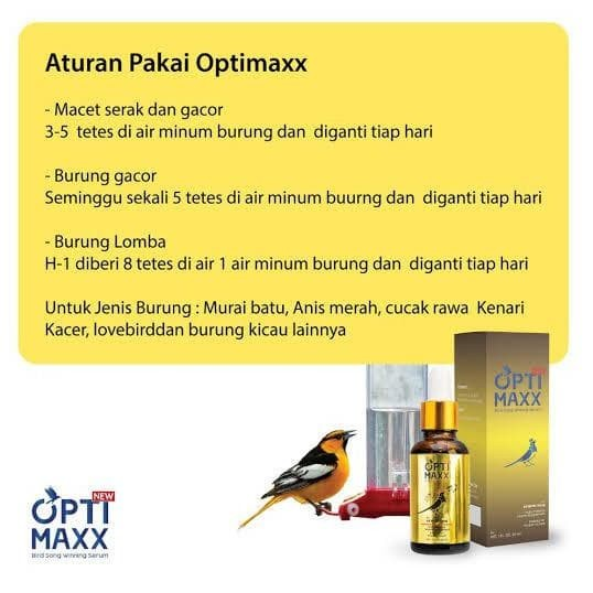 Jual Optimaxx Original Suplemen Burung Vitamin Penggacor Burung Kicau Lomba Jakarta Utara Velinkusuma Tokopedia