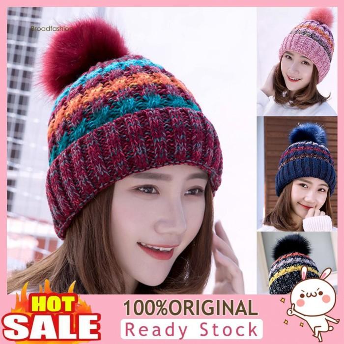 Jual Mz Fall Winter Fashion Girl Warm Colorful Woolen Yarn Knitted Jakarta Barat Tresnomart Shop Tokopedia