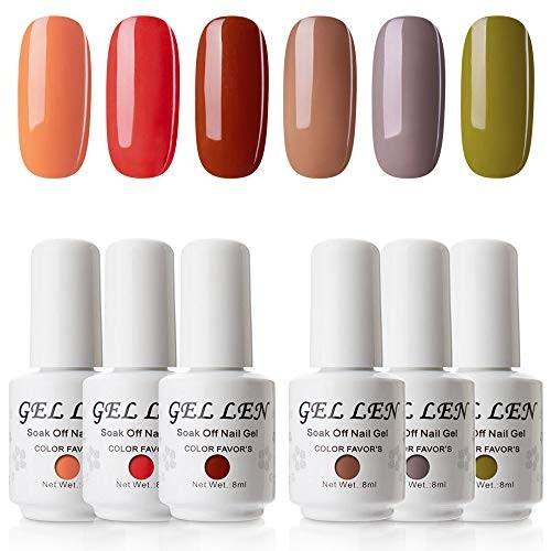 Jual Gellen Gel Nail Polish 6 Colors Set Fall Series Neutral Shade Nail Ge Jakarta Utara Exborders Tokopedia