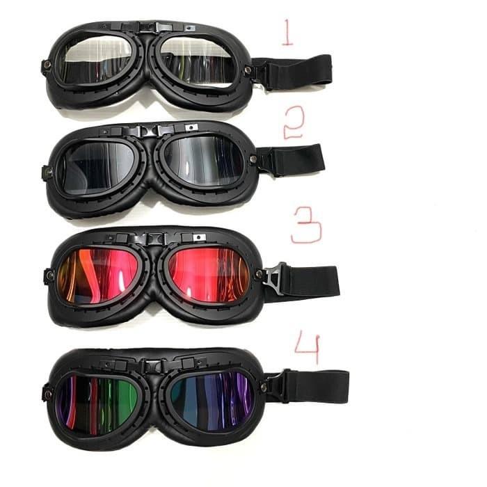 Foto Produk Kacamata Helm Model Pilot Skuter Klasik Retro dari saungmotor