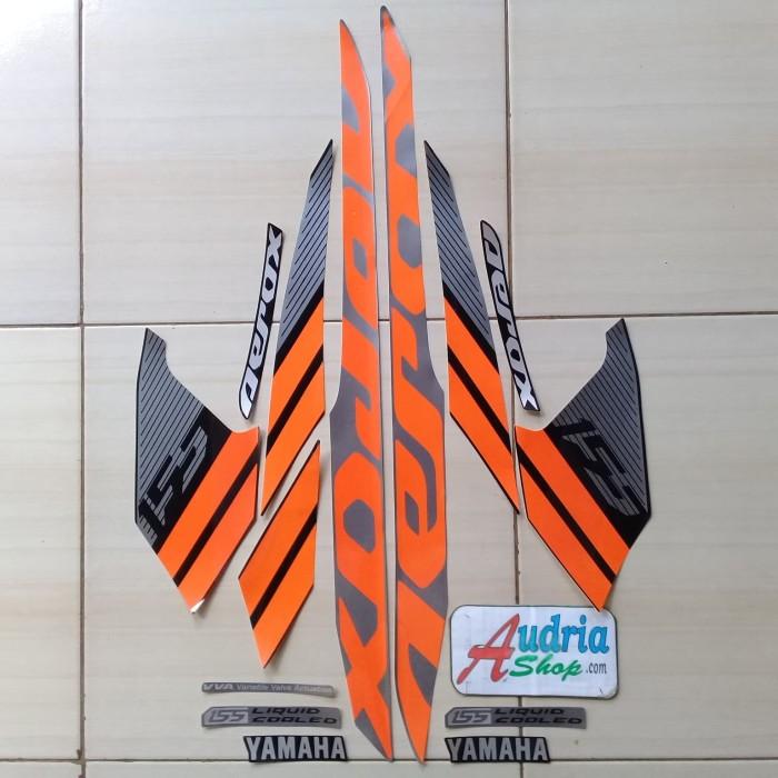Foto Produk Striping Stiker Motor Yamaha Aerox 155 2018 Hitam-Orange dari audriashop
