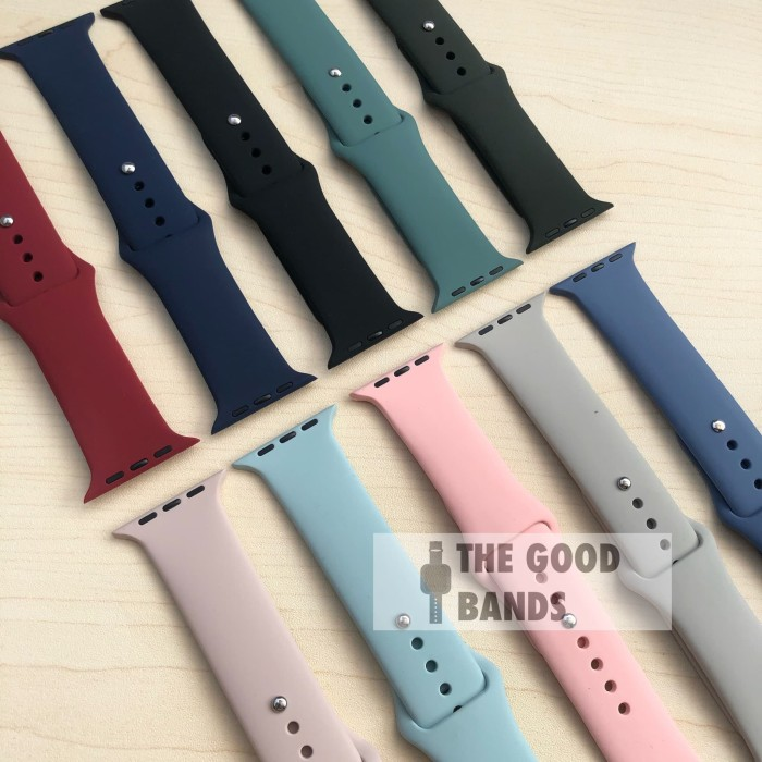 Foto Produk Apple Watch Sport Band Strap Rubber Sillicone Series 1 2 3 4 42mm 44mm dari The Good Bands