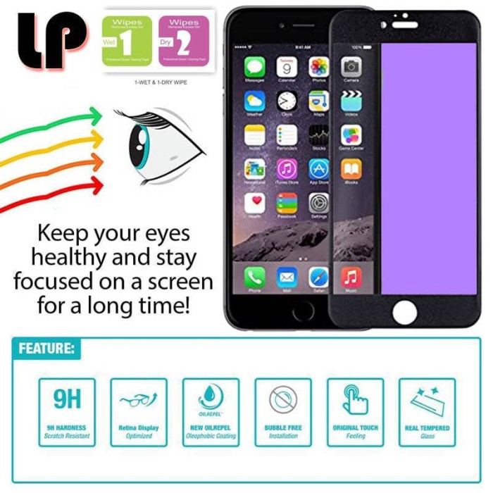 Foto Produk LP Full Anti-Blue Light Tempered Glass iPhone 5 - 5S - SE - Radiasi dari Logay Accessories