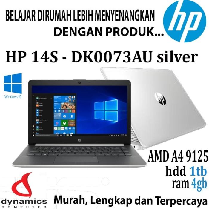 Jual Laptop Hp 14s Dk0073au Amd A4 9125u Ram 4gb 1tb Hdd Win 10 Silver Kota Mataram Dynamics Computer Tokopedia