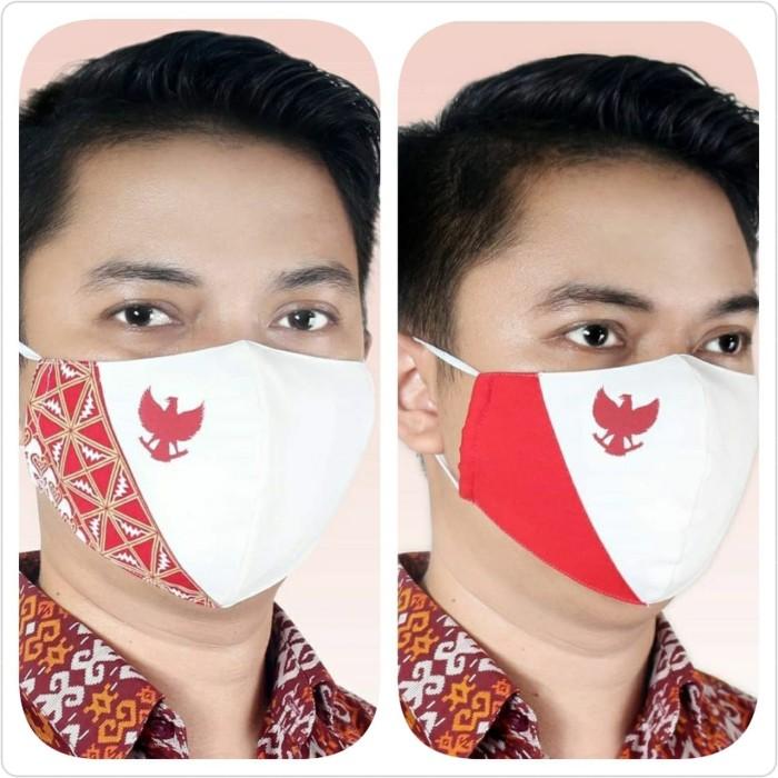 Foto Produk Masker Batik Keris Garuda Merah Putih (Anti Air) dari Kaia Boutique