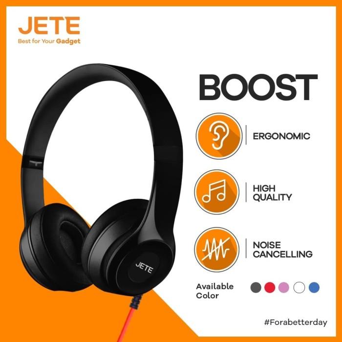 Foto Produk Headset Jete Boost Headphone Bando Boost Earphone Handsfree Super Bass dari JeteIndonesia