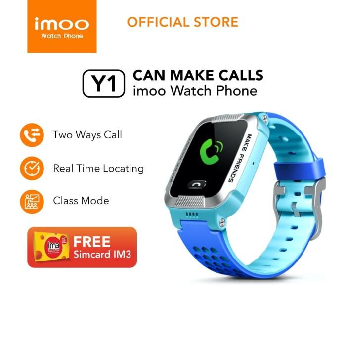 Jual imoo Y1 Watch Phone Biru-Jam Anak Pintar / Waterproof