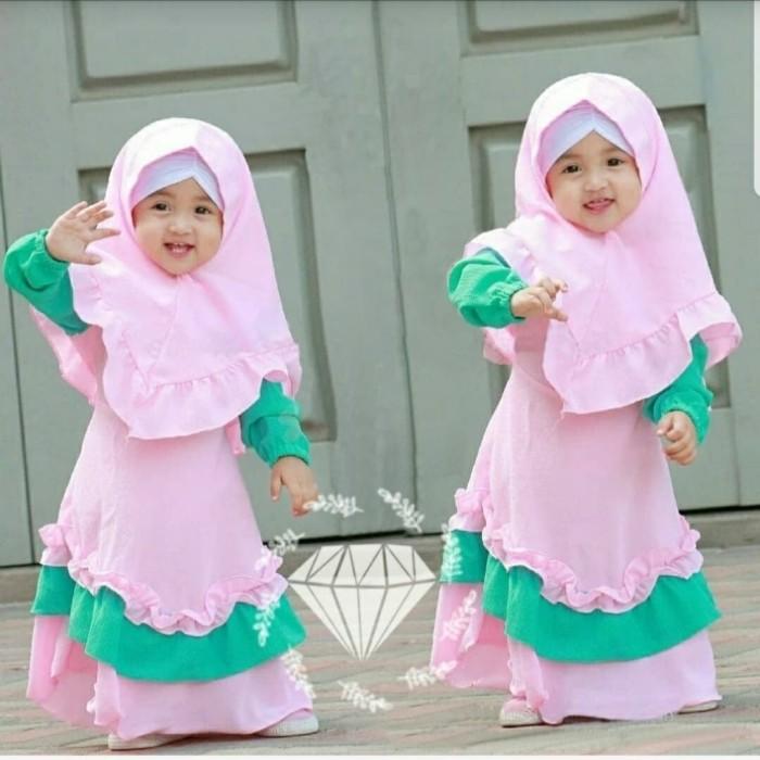 Jual Busana Muslim Dress Anak2 Perempuan Jakarta Barat Aflind Shopping Tokopedia