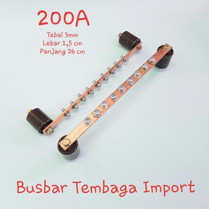 Jual Busbar Tembaga Panel Busbar Power Road 3x15mmx26cm 200a Harga Satuan Jakarta Barat Mega Lighting Tokopedia