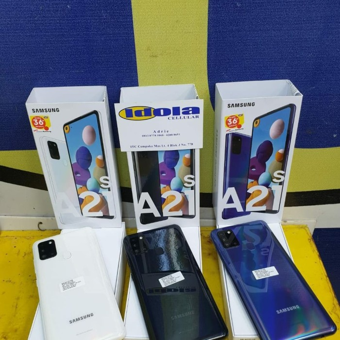 Foto Produk samsung A21s 6/64 garansi resmi indonesia / SEIN - Hitam dari Idola Cellular