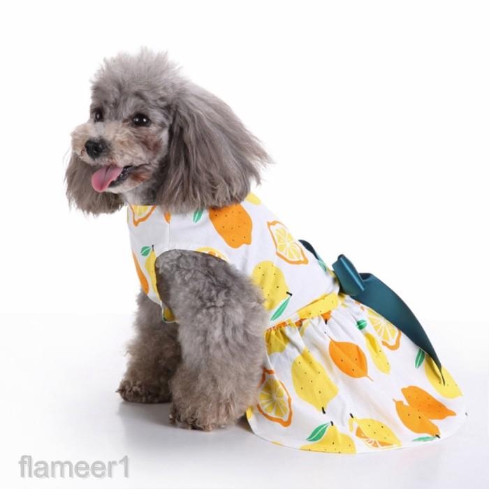 Jual Pet Puppy Summer Dog Cat Colorful Dress Apparel Clothes Princess Jakarta Barat Rivador Tokopedia