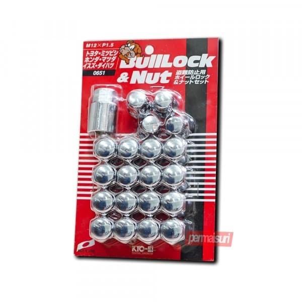 Foto Produk KYO-EI 0651 BullLock & Nut Set Mur 12 x 1.5 - 21mm - Chrome dari PERMAISURI