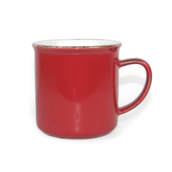 Foto Produk Artisan Ceramic | Cream Red Glossy Mug | Gelas Keramik dari Artisan Ceramic