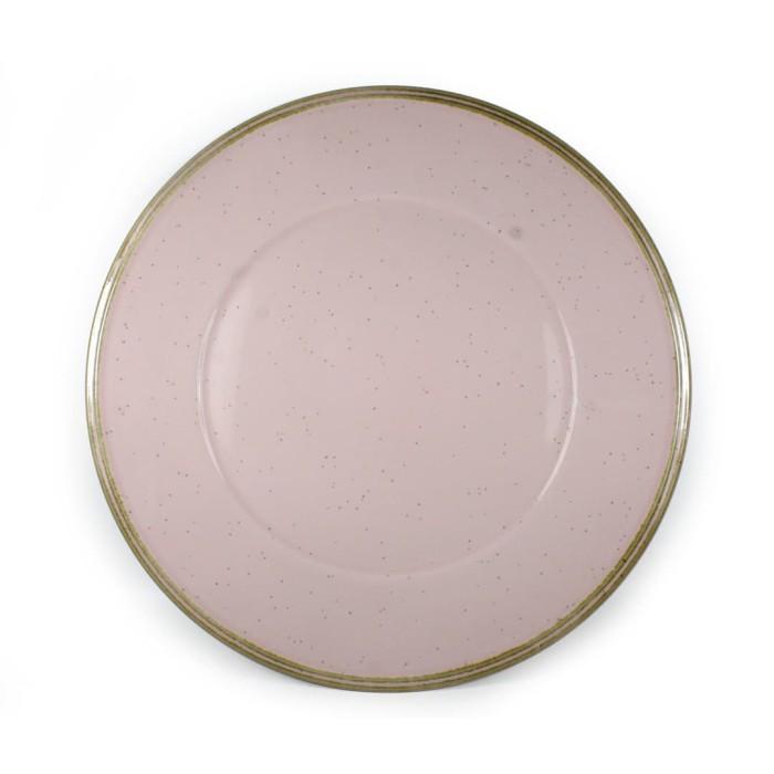 Foto Produk Artisan Ceramic | Pink Speckle Palermo Dinner Plate | Piring Keramik dari Artisan Ceramic