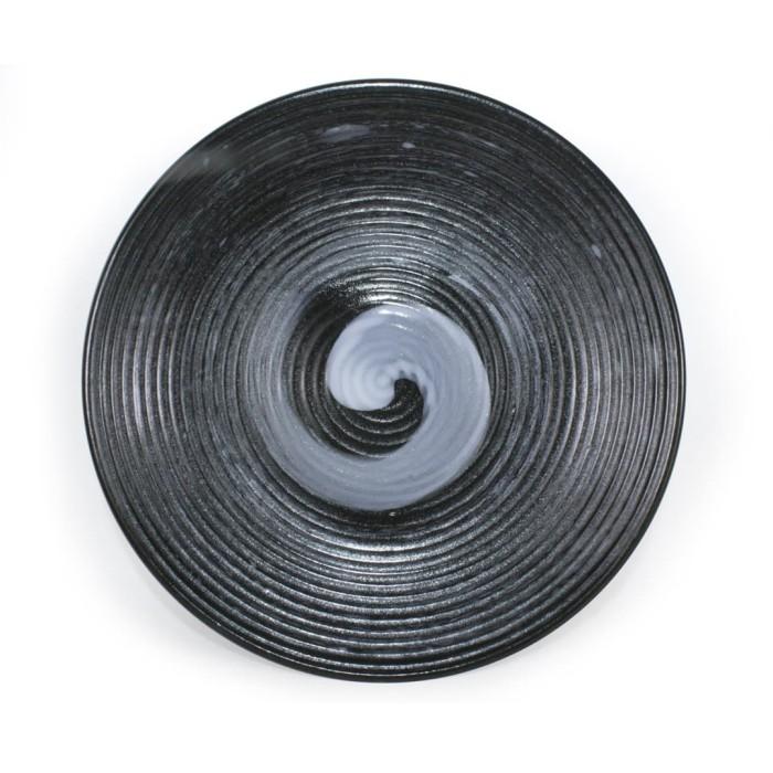 Foto Produk Artisan Ceramic | Black Scratch White Side Plate | Piring Keramik dari Artisan Ceramic