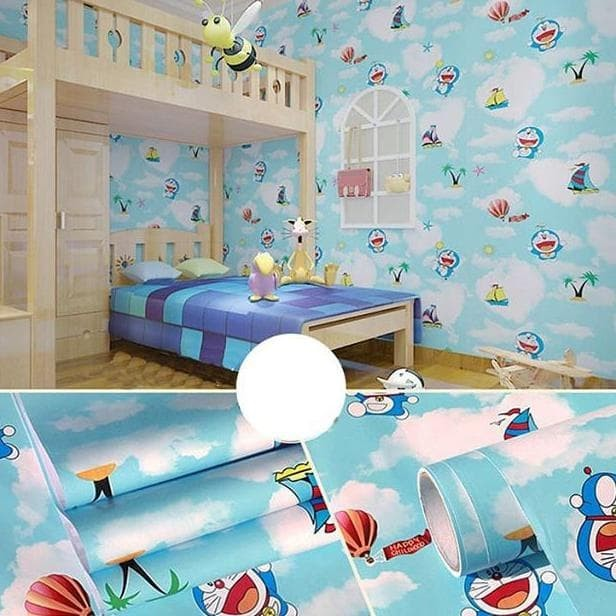 Jual Wallpaper Sticker Doraemon Awan Pantai Stiker Dinding Kamar Anak Ruang Kab Bekasi Sapitrilaris13 Tokopedia