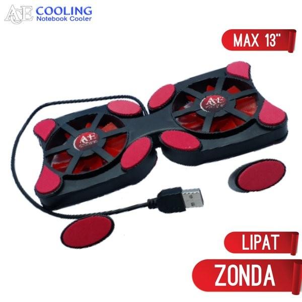 Foto Produk kipas laptop lipat model kepiting cooling pad type zonda 10-14inc dari teguh wacana01