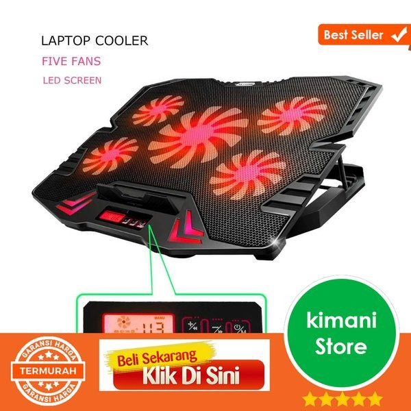 Foto Produk NAJU ICE FAN Cooling Pad Laptop 5 Kipas K5 Limited sparepart dari teguh wacana01