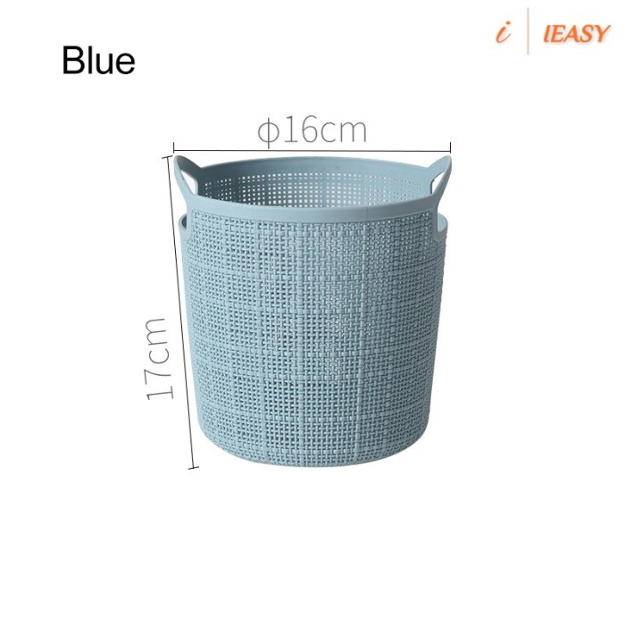 Jual Round Portable Storage Baskets Faux Linen Plastic Laundry Washing Jakarta Pusat Araa Store9 Tokopedia