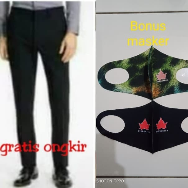 Foto Produk Celana Kerja Pria/Bahan/Formal/Panjang/Hitam/HR Bravo dari Pelita Jeans