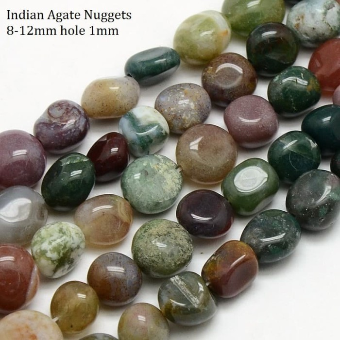 Foto Produk Batu semi mulia Natural Indian Agate dari Studio Manik