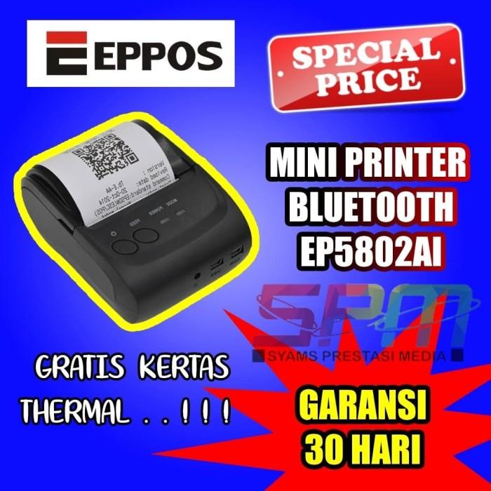 Foto Produk Mini Printer Thermal Bluetooth 58mm EPPOS EP5802AI - Android iOS dari syams prestasi media