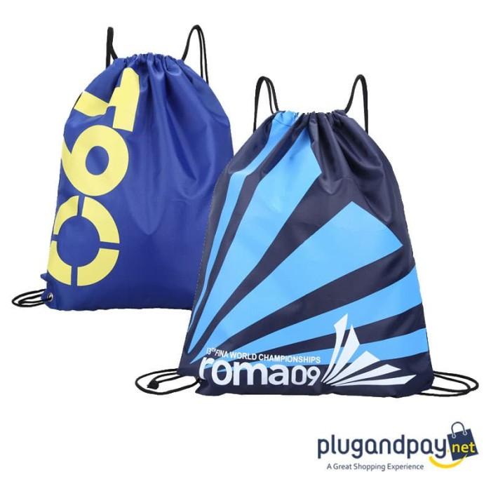 Foto Produk Tas Ransel Serut Drawstring Backpack Tas Punggung Tali dari plugandpay