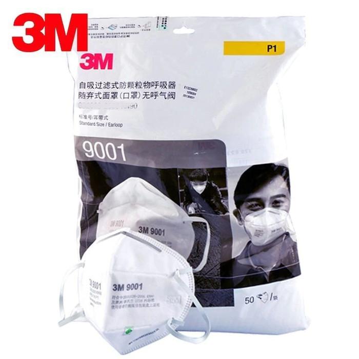 Foto Produk Masker 3M 9001 KN90 Earloop Masker Medis Anti Polusi Virus Debu Putih dari Murai Tebas