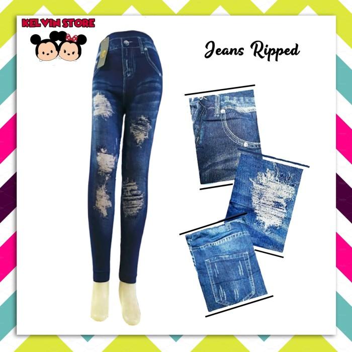 Jual Legging Import Motif Jeans Ripped Sobek Kota Tangerang Selatan Kelvin Baby Shop Tokopedia