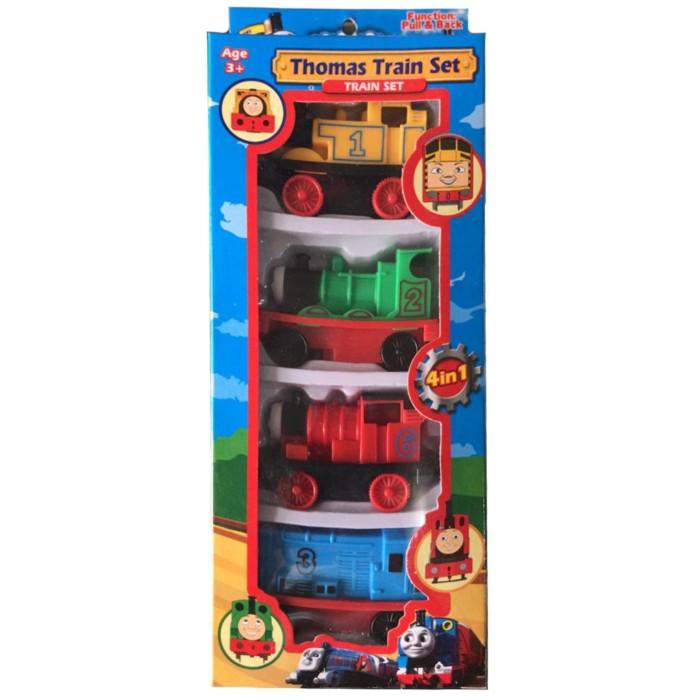 Foto Produk Mainan Anak Kereta Thomas 4 pcs bahan Plastik bisa pullback dari ciustoys