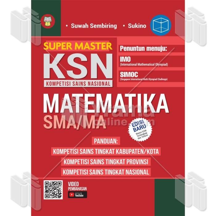 Foto Produk BUKU OLIMPIADE SUPER MASTER KSN MATEMATIKA SMA/MA - PENUNTUN MNJ IMO dari Yrama Widya Online