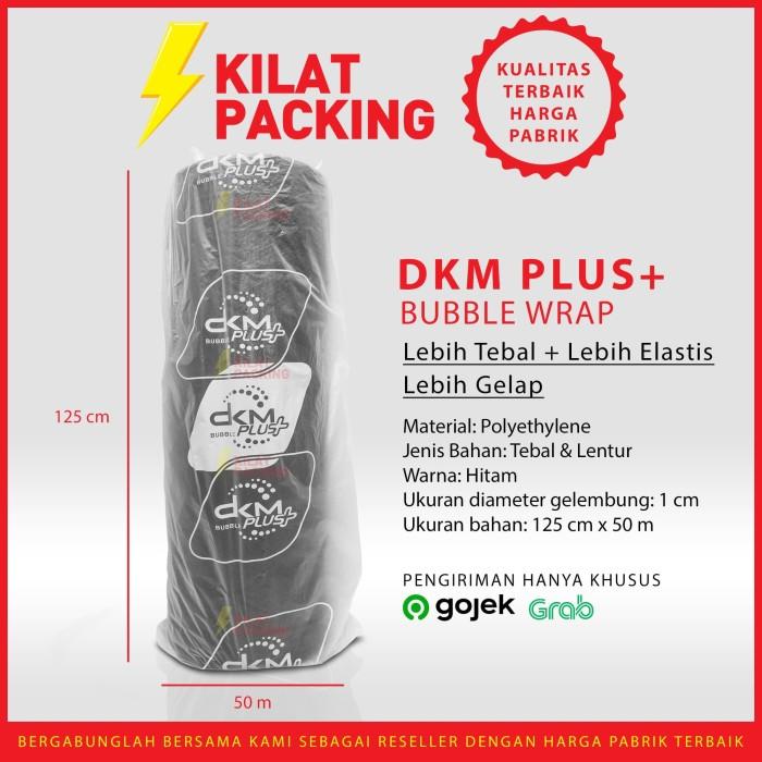 Foto Produk Buble Wrap Bubble Hitam Murah Premium Quality (Gojek/Grab) 125CM x50 M dari kilatpacking