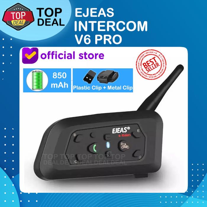 Foto Produk EJEAS V6 Pro Bluetooth Rider Intercom Vnetphone 6 Riders Helmet SENA dari Top Deal