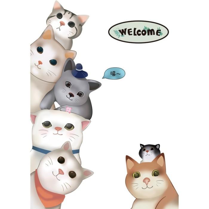 Jual Kucing Kreatif Kartun Stiker Pintu Kamar Anak Anak Stiker Kab Malang Windalonia Tokopedia