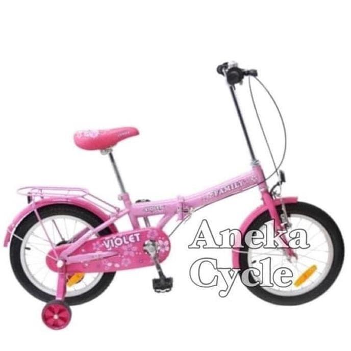 Jual Sepeda Lipat Anak Roda Empat Cewek Perempuan Family