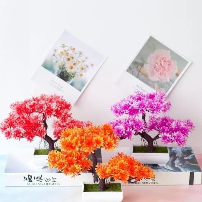 Jual Promo Bunga Plastik Hias Pajangan Pot Dekorasi Pohon Cantik Bonsai Jakarta Barat B Gs Tokopedia