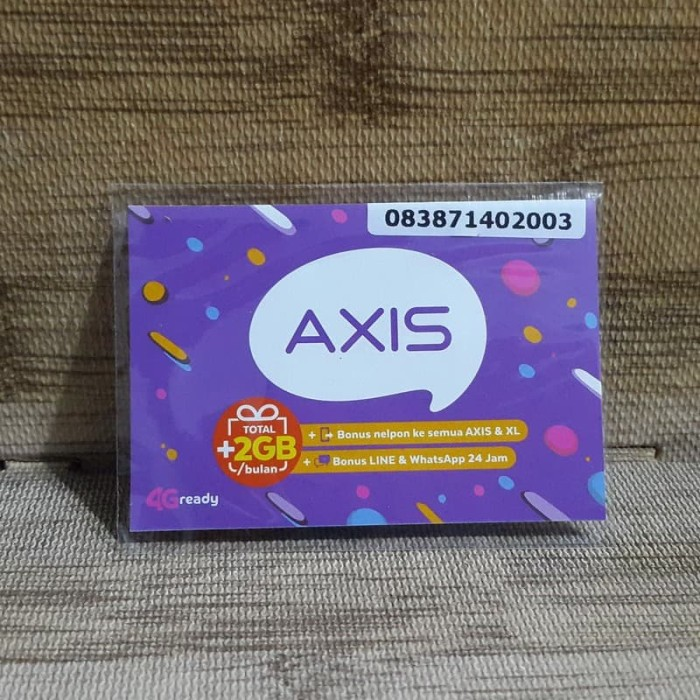 Foto Produk Nomor Cantik Axis 7140 2003 Kartu Perdana Axis 4G Ready 31 Des 2020 dari idStoreplus