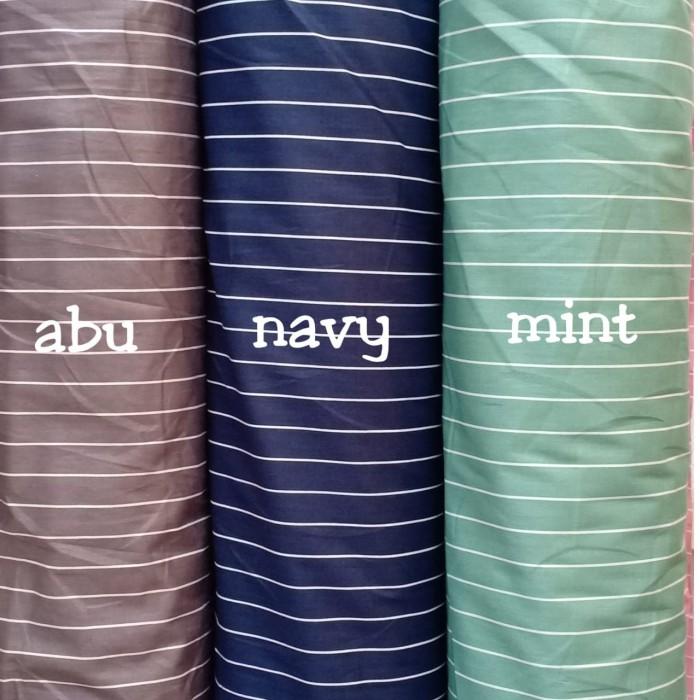 Foto Produk kain katun meteran katun jepang import ori motif new salur dari afia kain katun